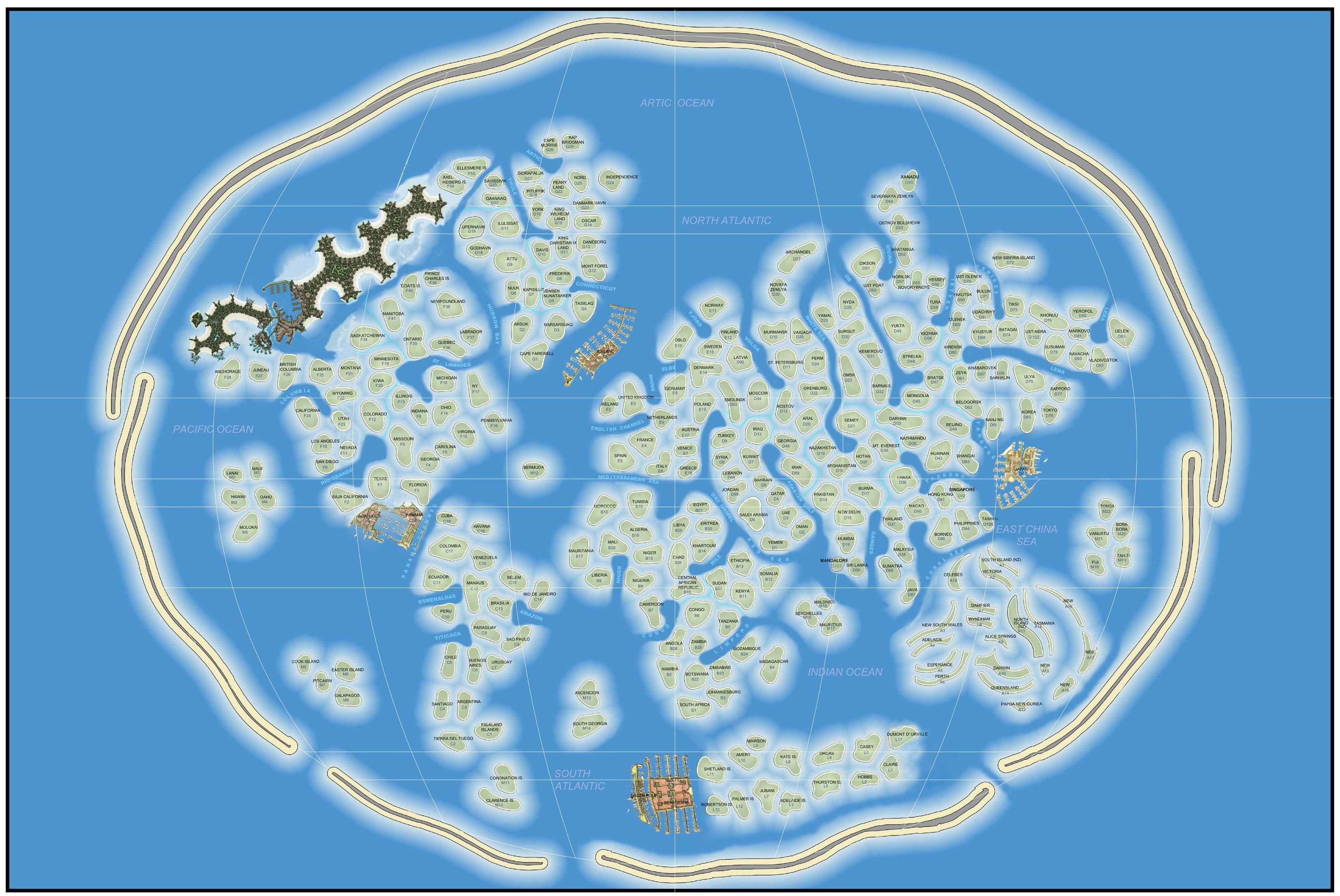 Dubai world map Insel - Weltkarte, Insel, Dubai (Vereinigte ...
