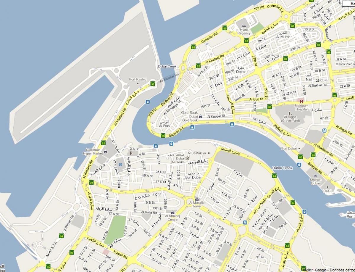 Bur Dubai, map - Karte von Bur Dubai (Vereinigte Arabische ...