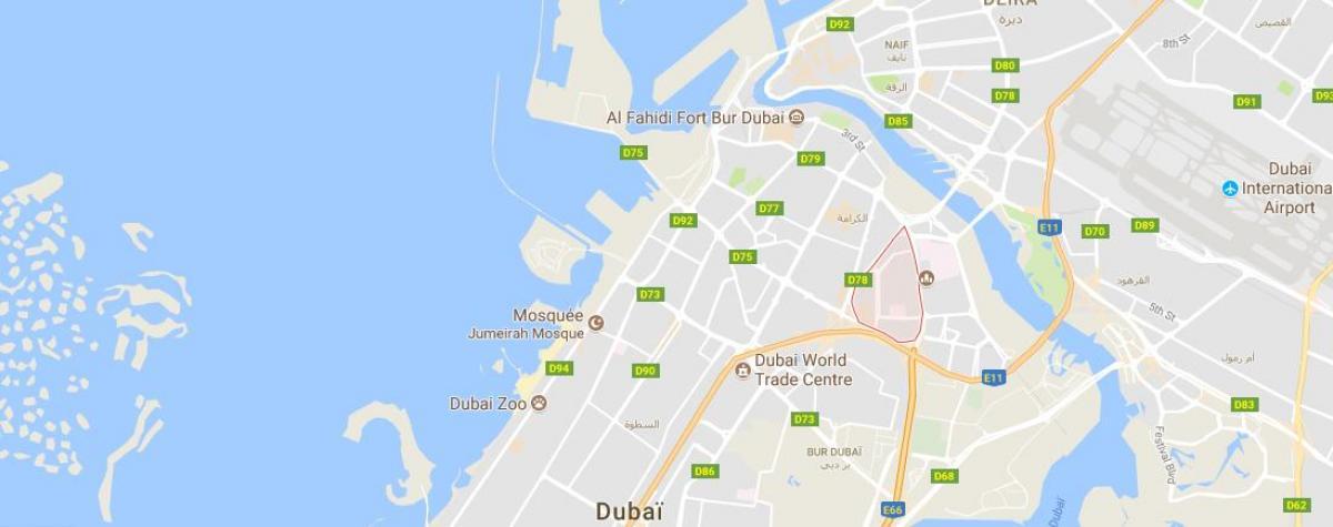 Oud Metha Dubai map - Karte von Oud Metha in Dubai ...